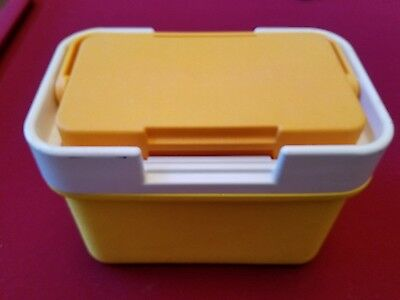 Vintage 1970's Thermos Cooler Model 7710 Orange & Yellow Plastic FREE SHIPPING!!