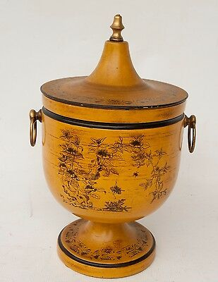 Italy Vintage Tole Metal Hand Painted Ice Bucket