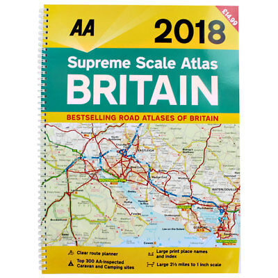 AA 2018 Supreme Scale Atlas Britain by AA (Paperback), Non Fiction Books, New