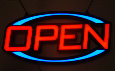 80Cm Extra Large Led Quality Display Flashing Open Sign For Cafe Bar Pub Shop