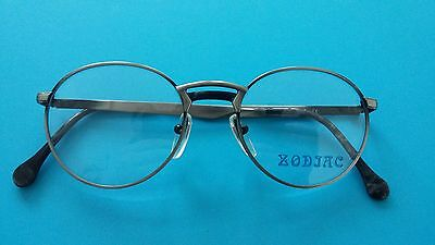 Vintage Zodiac  Glasses  Round  Frame New  Gunmetal  51/19   Made  In  Italy  .