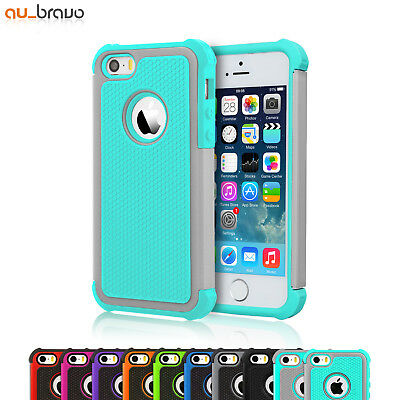 Shockproof Heavy Duty Silicone Hard Tough Case Cover for Apple iPhone 5S 5 SE