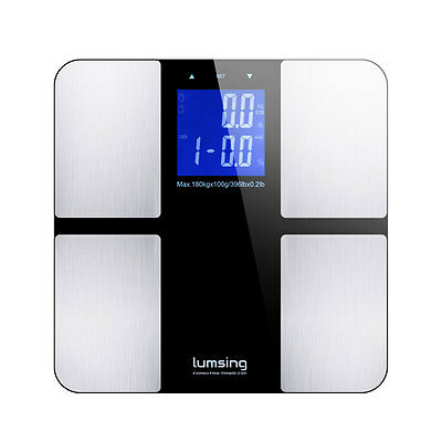Bathroom LCD Digital Body Weight Scale Fat Muscle Bone Calorie BMI 400lb/180kg