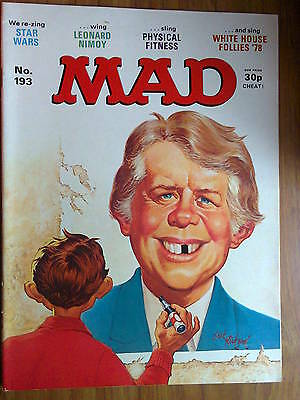 MAD, No 193, UK Issue, VINTAGE- priced at 30p, STAR WARS &  In Search Of Spock
