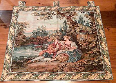 """Fench Country Wall Hanging Victorian Style Cotton Tapestry 81x102cm (32x40"""")"""