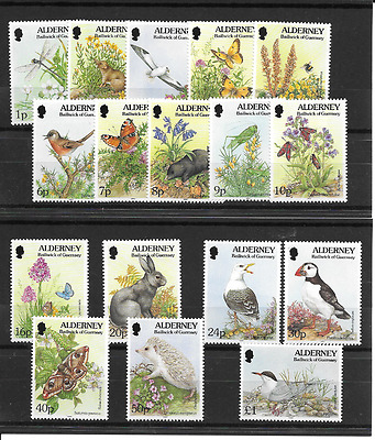ALDERNEY 1994 Flora & Fauna Definitives u/m
