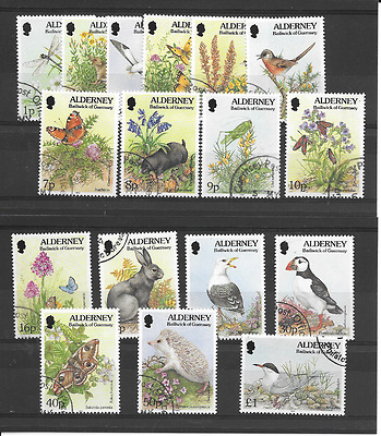 ALDERNEY 1994 Flora & Fauna Definitives used