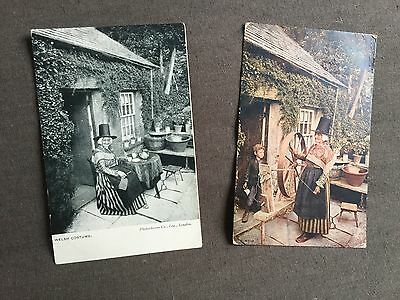 2 Old Postcards of Welsh Ladies in Costume