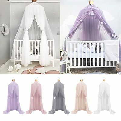 Crib Round Dome Princess Bedding Hanging Canopy Mosquito Net Girl Kids Bedroom