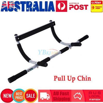 Portable Upper Body Gym Workout Home Exercise Door Pull Chin Up Iron Bar ABS