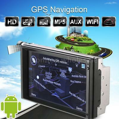 "7"" Android 5.1 Car GPS Navigation Stereo Radio Player WIFI AM/FM hands-free Call"