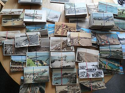Uk Piers 1000+ Approx Mixed Lot Pu & Unposted Mixed Condition Some Moderns