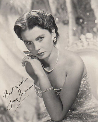 Jean Simmons Printed Signed Photo