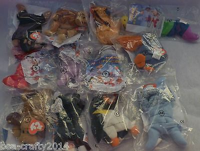 Set Of 12 Sealed Ty Teanie Beanie Babies Animal Mcdonald Happy Meal -1993