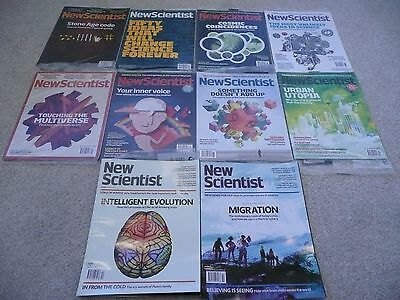 10 New Scientist Magazines - Most wrapped in original plastic. New and Unopened