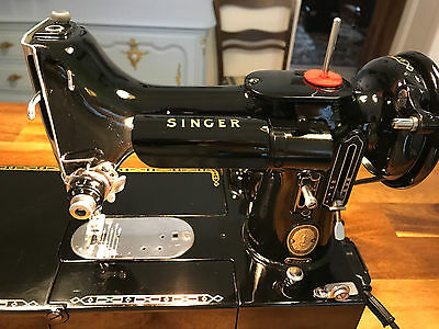 GLOSSY SHINY SINGER 222k Featherweight Sewing Machine TOP