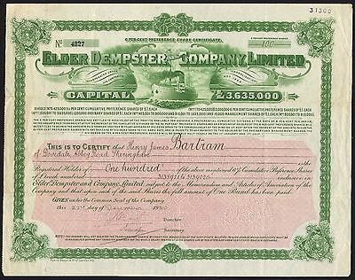 Elder Dempster & Co. Ltd., 6% preference shares, 1920, capital £3,635,000