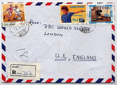 1997 Cape Verde Registered Cover To Bbc. London.