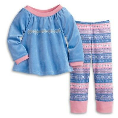 Retired Authentic American Girl Snowy Dreams PJ's Small (Size 3) Bitty Baby