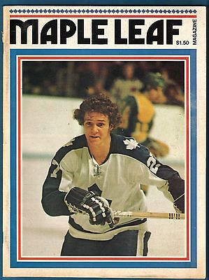 1975 MLG Toronto Maple Leafs vs Atlanta Flames hockey program
