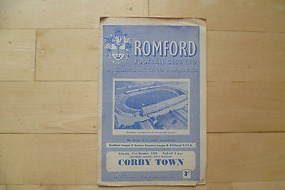 Romford v Corby Town 1959 Southern League 1st Division