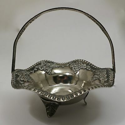 Vintage Silver Plated Basket with Handle (Miniature Bride's Basket) Plated