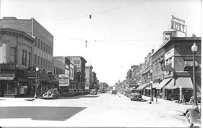 Main Street Looking North Mitchell SD nice real photo postcard not postally used