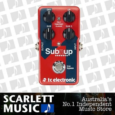 TC Electronic Sub 'N' Up Octaver Effects Pedal *BRAND NEW*