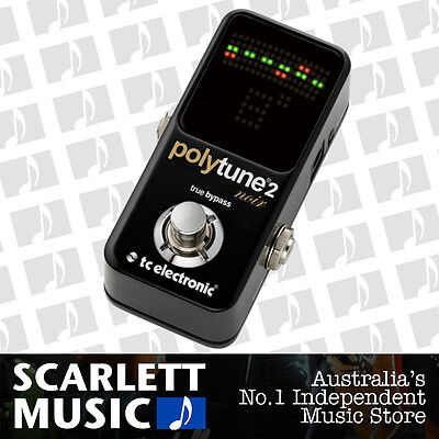 TC Electronic PolyTune 2 Mini Noir Polyphonic Guitar Tuner Pedal *BRAND NEW*