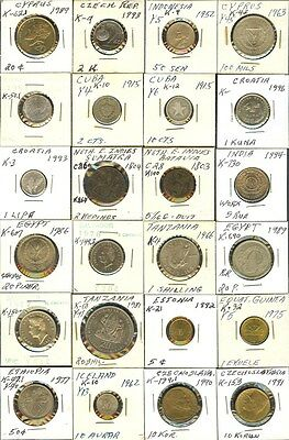 World Coins 1803-1996 Mixed Denominations Group Of 24 Coins