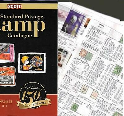 Italy and States 2018 Scott Catalogue Pages 623-740