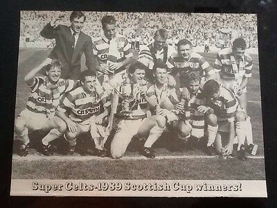 1989 A4 TEAM Football magazine picture/poster CELTIC Scottish Cup Winners