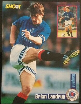 1994 A4 Football picture poster BRIAN LAUDRUP Rangers