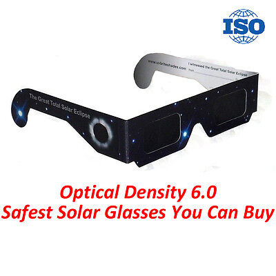 Solar Eclipse Glasses (Stars) Dark Lens 100% KID & ADULT SAFE✔ CE ISO Approved