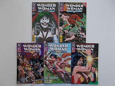 5x WONDER WOMAN - Heft Nr. 1 + 5. DC, Dino Comics. Z. 2