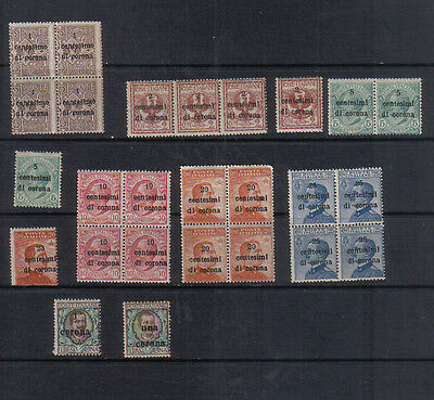 Italian Occupation of Austria 1919 Unmounted mint collection