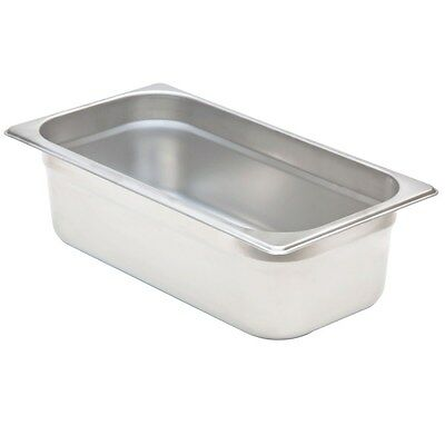 "Restaurant Supplies THRID SIZE STAINLESS STEEL STEAM TABLE FOOD PAN + LID 4"" d"