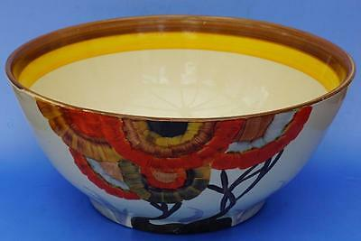 Clarice Cliff Art Deco Large Fruit Bowl Rhodanthe Pattern