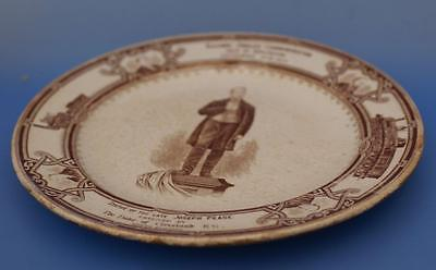 Antique 1875 Darlington and Stockton Commemorative Railway Jubilee Plate