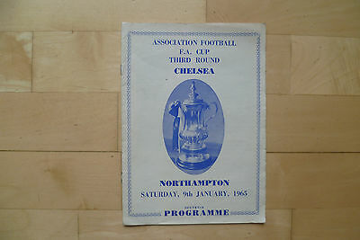 Chelsea v Northampton Town 1965 FA Cup Pirate programme