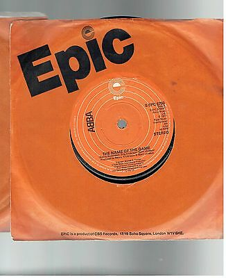 Abba The Name Of The Game 45 Epic 1977