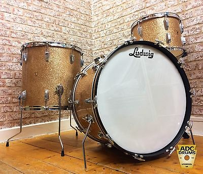 Vintage 1962 Ludwig Sparkling Pink Champagne Super Classic Drum Kit: 13/16/22