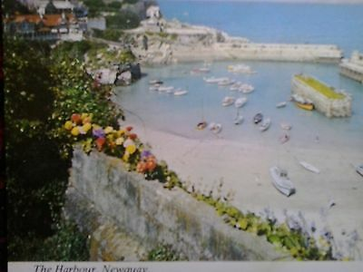 c) Vintage Postcard The Harbour Newquay Cornwall