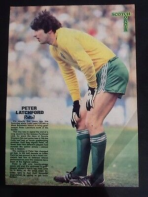 A4 SCOOP Football magazine picture/poster PETER LATCHFORD, Celtic
