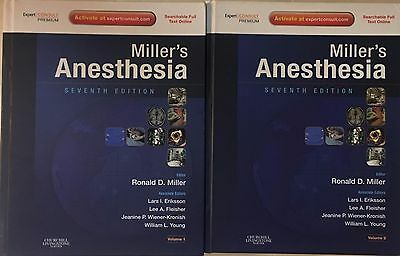 Miller's Anesthesia 7th Edition Volume 1 & 2 Set Seventh