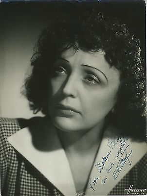 Edith PIAF (Singer): Signed Photograph