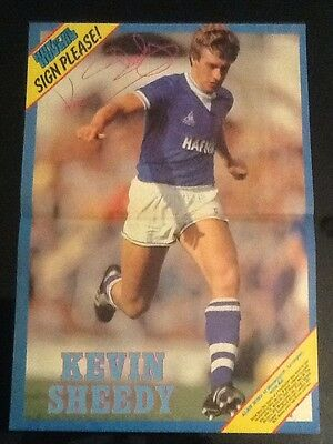 STUNNING A3 Football action picture/poster KEVIN SHEEDY Everton (1982-92)