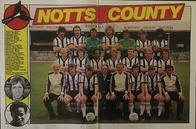 STUNNING A3 Football Team picture poster NOTTS COUNTY (1981) CHIEDOZIE HOOKS etc