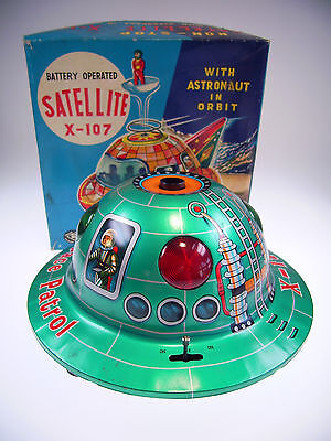 "Gsr Robot Modern Toys ""satellite X-107"" Like Neu/new/neuf In Good Box !"