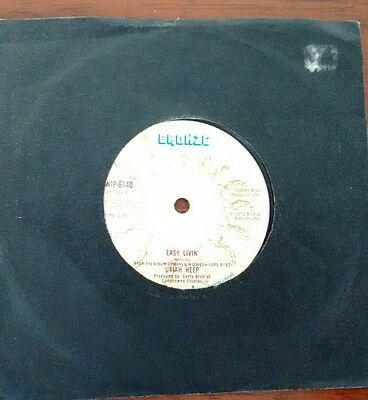 "Uriah Heep: Easy Livin' (7"" single) Bronze WIPO 6140 1972"